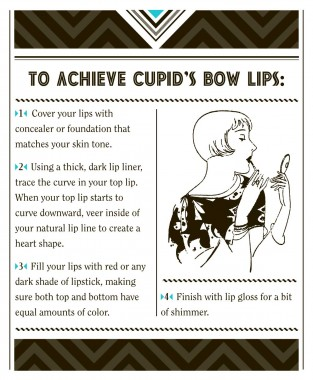 How to achieve cupid's bow lips from Bright Young Things