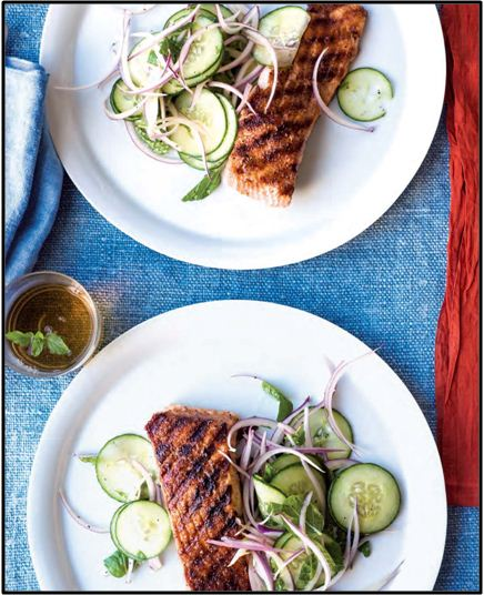 Grilled Salmon with Moroccan Spices
